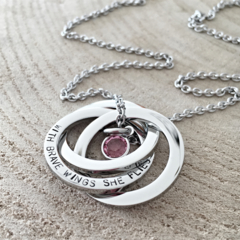 In Memory Hand Stamped Necklace, Loss of Loved One, Remembrance Jewellery
