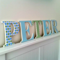 Wall or Door Name Plaque. 17cm. 5 Letters.