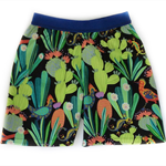 Boys or girls shorts, size 2, cactus print, board shorts, summer shorts
