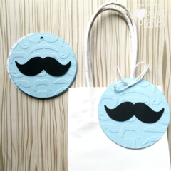 Little Man Gift Tags. Mustache shape. Birthday party, baby shower, 1st birthday.