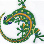 T shirt, long  and short sleeves, embroidered gecko, sizes 2-6, custom order