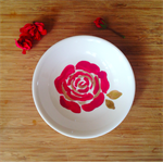 Hand-painted Rose Gold Bowl