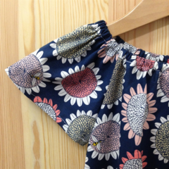 dress - sunflower / organic cotton peasant-style / eco friendly / girl 4 years