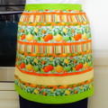 Half Apron Oranges & Lemons - womens lined cotton apron