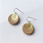 AUSTRALIS BOHO - Sun - Hoop Earrings {Tan}