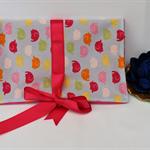 Tarot card wrap, oracle card pouch, angel card, jewellery fold-over satchel