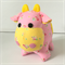 Moo Cow Soft Toy Pink with Flowers