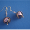 Gold filled Millefiori Murano glass earrings
