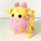 Moo Moo Cow Soft Toy Yellow with Flowers