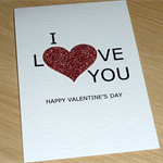 Valentine's Day card - I Love You