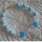 Powder Blue Murano Glass & Swarovski Crystal Bracelet