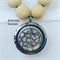 Stainless Steel Locket - Wooden Bead Necklace