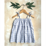 Girls Cotton Summer Ruffle Dress - Blue/White Stripe  Sizes 1-2, 3-4 & 5-6 years
