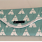 Baby Changing Mat Nappy Wallet Combo Teepees Canal and White