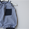 Unisex gingham rompers - navy and white, babies overalls. baby gift
