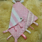Baby Security Taggie Blankie-Pink Dot