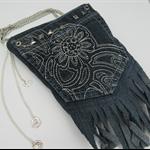 Recycled Denim Pocket Cross Shoulder Bag
