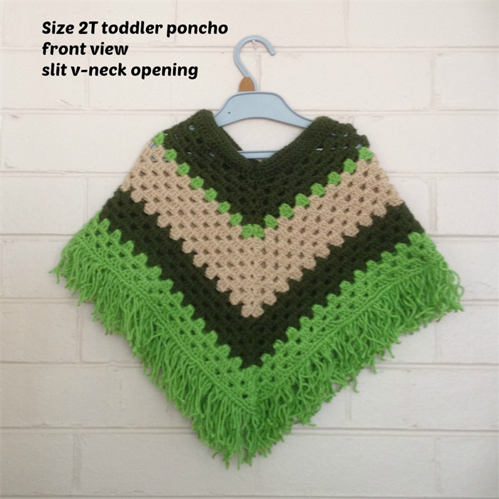 Crochet Ponchos For 2 3 Year Old Child Boy Or Girl