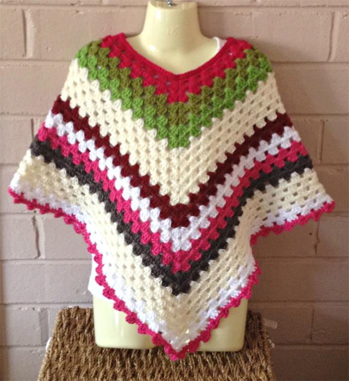 Crochet Baby Ponchos For 3 Year Old Child Girls Ponchos Size 3t