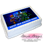 Five Nights at Freddys Personalised A4 Edible Icing Cake Topper
