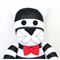 'Clancy' the Sock Cat - black & white stripes - *READY TO POST*