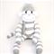 'Edward' the Sock Monkey - grey and white stripes - *READY TO POST*