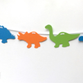 Dinosaur Garland. Birthday party banner. Dino baby shower. Photo prop.