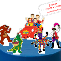 wiggles XL edible cake topper PRE CUT