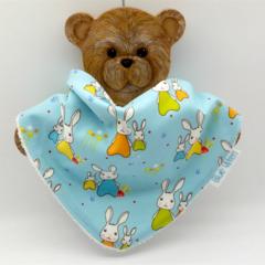 Dribble Bandanna Baby Bib - So Soft Bamboo Toweling, Cotton Bunny Fabric