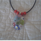 Millefiori Oval Glass Pendant