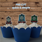 Thomas the Tank Engline EDIBLE wafer cupcake toppers PRE-CUT