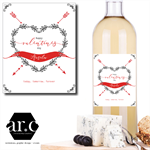 PERSONALISED VALENTINES DAY WINE/SPIRIT BOTTLE GIFT LABEL