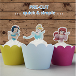 Disney Princesses half body EDIBLE wafer cupcake toppers PRE-CUT