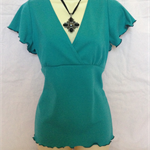 LADIES  STRIKING AQUA BLUE  TOP size 16