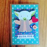 Valentines day card funny handmadeValentine's Star Wars Yoda Free Australia Post