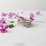 Stacking Rings. Sterling Silver Rings. Set of 4 stackable rings. Elegant modern