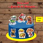 Paw Patrol XL edible cake toppers PRE-CUT
