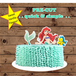 Little Mermaid Ariel XL edible cake topper PRE CUT