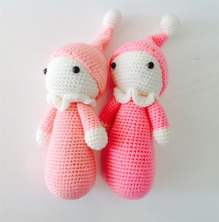 Amigurumi Cuddly Baby : Pair of two Amigurumi Cuddly Dolls, Crochet Cuddly Baby ...