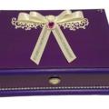 Violet Wedding Keepsake Trinket Treasure Jewellery Memory Bridal Wooden Box