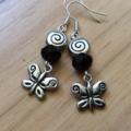 Butterfly drop earring earrings