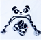 Set of Panda Crochet Shoes - Hat Set, Panda Baby Shoes