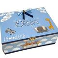 Safari Animals Time Capsule Keepsake Trinket Treasure Memory Wooden Baby Box