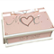 Wedding Wishes Keepsake Box Pink, White & Silver