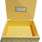 Baby Keepsake Trinket Treasure Memory Wooden Box Personalised - Yellow