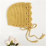vintage bonnet | mustard | toddler bonnet | winter hat | knit bonnet | baby hat