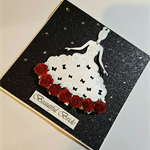 Beautiful Bride Glitter Card