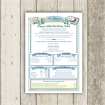 Personalised 60th Birthday History Certificate - The gift that suits everyone!