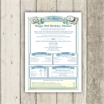 Personalised 40th Birthday History Certificate - The gift that suits everyone!