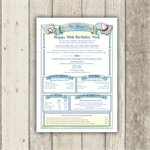 Personalised 50th Birthday History Certificate - The gift that suits everyone!